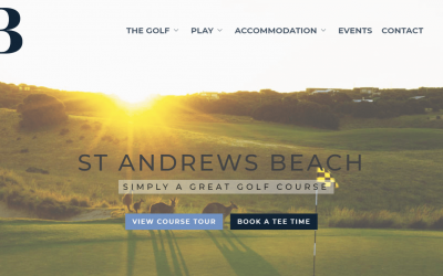St Andrews Beach develops a stunning new website