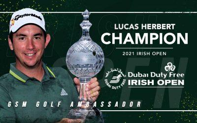 GSM Ambassador Lucas Herbert WINS 2021 Irish Open